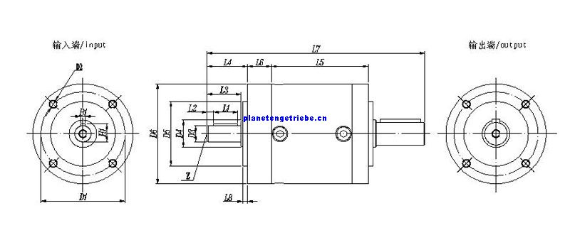 PL double shaft Planetary gearbox
